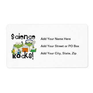 Frogs Science Rocks Label
