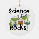 Frogs Science Rocks Double-Sided Ceramic Round Christmas Ornament
