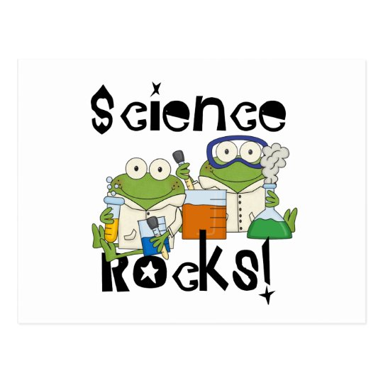 Frogs Science Rocks Postcard