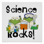 Frogs Science Rocks Poster