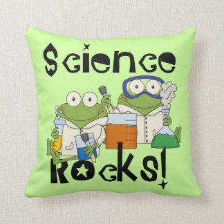 Frogs Science Rocks Throw Pillows