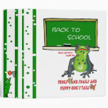 "Frogs Snails and Puppy Dog Tails Back To School 2"" Binder"
