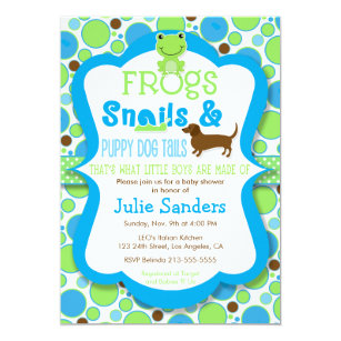 Puppy dog baby shower invitations announcements zazzle frogs snails puppy dog tails boy baby shower invitation filmwisefo