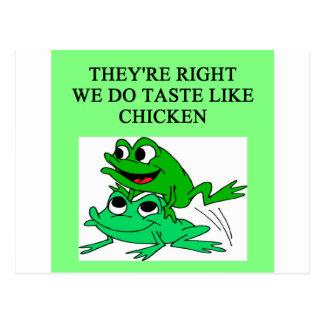FROGS taste like chicken Postcard