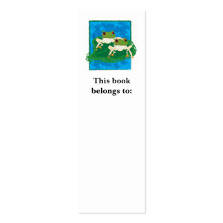 Frogs, This book belongs to: Bookmark Mini Business Card