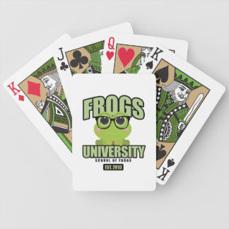 Frogs University Bicycle Playing Cards
