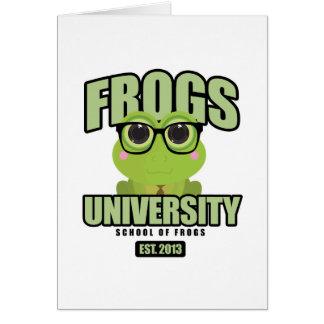 Frogs University Card