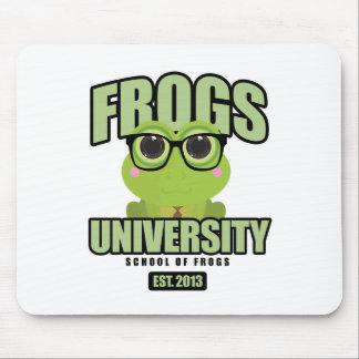 Frogs University Mouse Pad