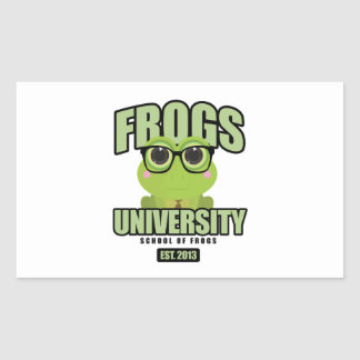 Frogs University Rectangular Sticker
