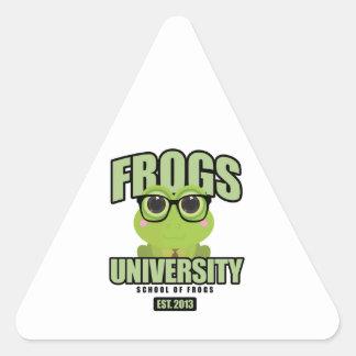 Frogs University Triangle Sticker