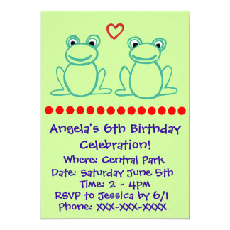 Frogs with Heart Card