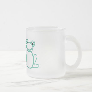 Frogs with Heart Frosted Glass Coffee Mug