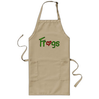 Frogs with Heart Long Apron