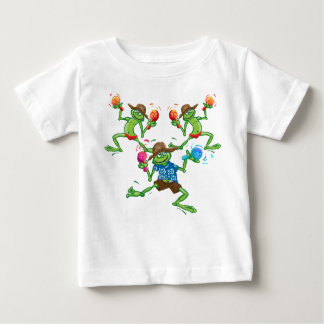Frogs with maraccas baby T-Shirt