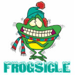 frogsicle funny frozen shivering frog cut out