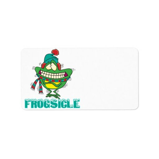 frogsicle funny frozen shivering frog custom address label