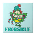 frogsicle funny frozen shivering frog ceramic tiles