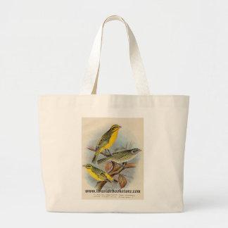 Frohawk - St. Helena Waxbill & Green Singing Finch Jumbo Tote Bag