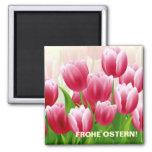 ¡Frohe Ostern! Imán del regalo de Pascua del alemá