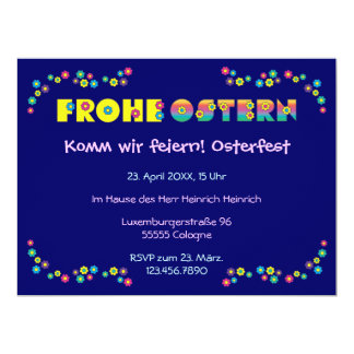 "Frohe Ostern Invitación 6.5"" X 8.75"""