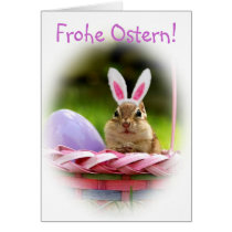 Frohe Ostern Little Chipmunk Card