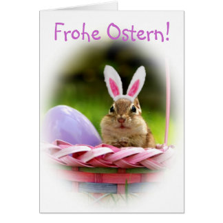 Frohe Ostern Little Chipmunk Cards