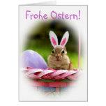 Frohe Ostern poco Chipmunk Felicitacion