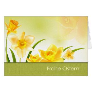 Frohe Ostern. Tarjeta de felicitación de Pascua