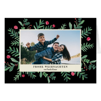 Frohe Weihnachten Aquarell | Weihnachtskarte Card