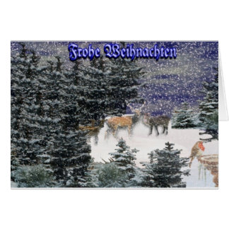 Frohe Weihnachten Card