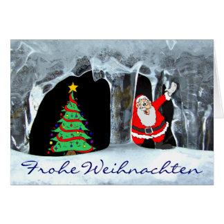 Frohe Weihnachten Eiszapfen Card