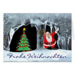 Frohe Weihnachten Eiszapfen Tarjetón