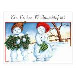 Frohe Weihnachten - Felices Navidad Tarjeta Postal