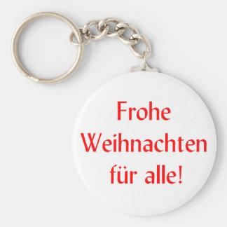 Frohe Weihnachten fur alle Basic Round Button Keychain