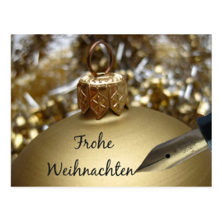 Frohe Weihnachten German Christmas Card