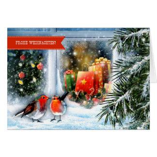 Frohe Weihnachten. German Christmas Greeting Card