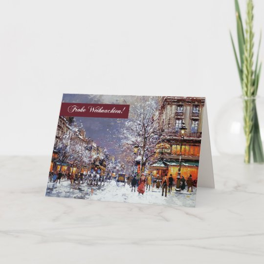E Cards Weihnachten.Frohe Weihnachten German Christmas Greeting Cards