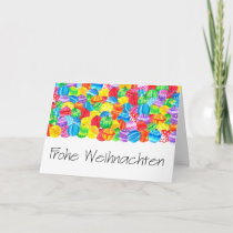 Frohe Weihnachten German Christmas , watercolor Holiday Card