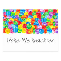 Frohe Weihnachten German Christmas , watercolor Postcard