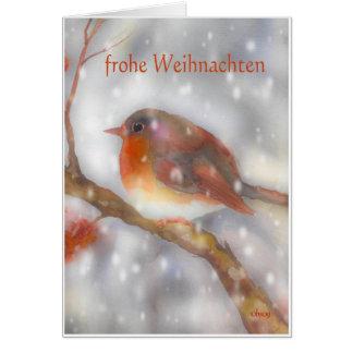 frohe weihnachten german merry christmas card
