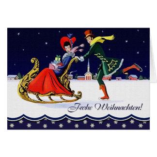 Frohe Weihnachten. German Vintage Style Card