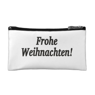 Frohe Weihnachten! Merry Christmas in German bf Cosmetic Bag