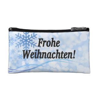 Frohe Weihnachten! Merry Christmas in German bf Makeup Bag
