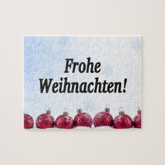 Frohe Weihnachten! Merry Christmas in German bf Puzzle