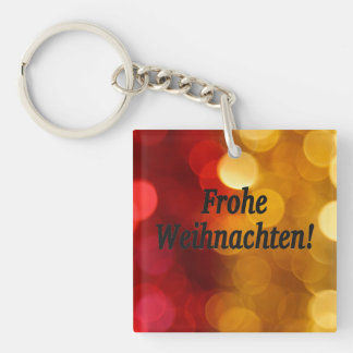 Frohe Weihnachten! Merry Christmas in German bf Single-Sided Square Acrylic Keychain