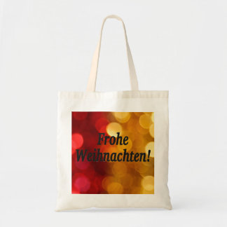 Frohe Weihnachten! Merry Christmas in German bf Tote Bag