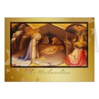 frohe Weihnachten, merry Christmas in German Card