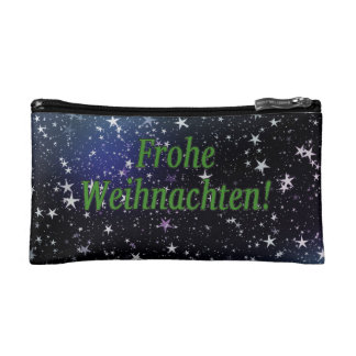 Frohe Weihnachten! Merry Christmas in German gf Cosmetic Bag