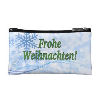 Frohe Weihnachten! Merry Christmas in German gf Makeup Bag