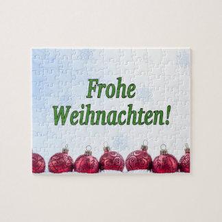 Frohe Weihnachten! Merry Christmas in German gf Puzzles